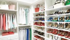Shoes, shoes and more shoes! They all have a home with TCS Closets.