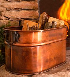 Oval Firewood Tub I have one of these and have been unsure about wanting to keep it!!