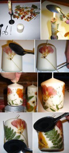 Make original candles yourself: 10 workshops with photo candle making DIY Candles Design - Diy Crafts Hacks, Diy Home Crafts, Crafts To Make, Fun Crafts, Homemade Candles, Homemade Gifts, Creation Bougie, Diy Candles Design, Candle Art