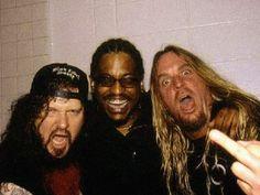 Jeff hanneman (Slayer), Rocky George (Suicidal Tendencies) & Dimebag Darrell (Pantera)
