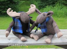 Moose PATTERN PDF Murphy & Mabel from woven or by BecomingBearsETC, $9.00