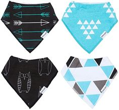 Baby Bandana Bibs by THE BLUSHING BABY Blue  Black ** You can get additional details at the image link.