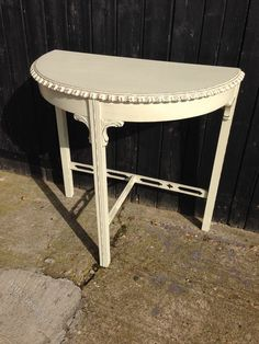 Painted Mahogany Half Round Console Table c.1920