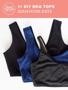 DIY Bra Tops - A review of the Seamwork Kaye pattern by Sew DIY