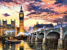 London by Thomas Kinkade