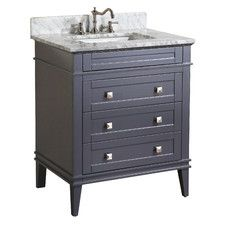 Accanto Contemporary Inch White Finish Bathroom Vanity Marble