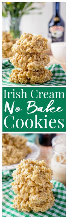 These Irish Cream No Bake Cookies are a boozy twist on the classic ...