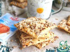 Домашнее галетное печенье с семечками - кулинарный рецепт