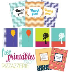Free printable for thank you cards.