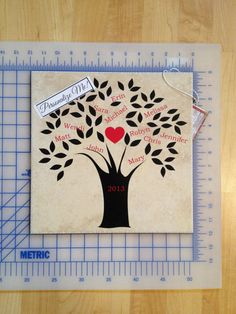 "One of the personalized tiles I am making for my new company, ""Vinyl Impressions."""