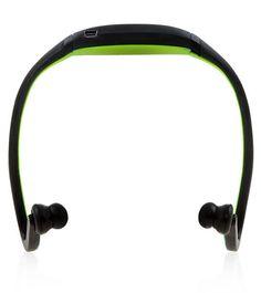 Bluetooth Sports Wireless Headphones Green, Sport Style hands free