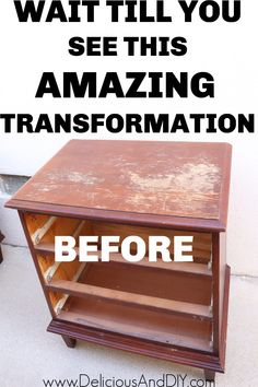 Transform a shabby thrifted nightstand with this stunning paint color job and a little sanding to fully transform it into a gorgeous nightstand to fit in with your home decor.
