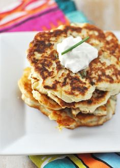 What to do with leftover mashed potatoes? mashed potato pancakes of course!