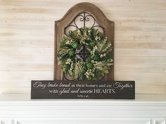 "$42.00 + Shipping (and tax where applicable)   More Photos:      YOU MIGHT ALSO LIKE THESE PRODUCTS:     DESCRIPTION: This ""They Broke Bread in their homes and ate Together with glad and sincere hearts. -Acts 2:46"" sign is made from 100% reclaimed wood sourced in San Antonio, Texas! We think rustic farmhouse style signs …"