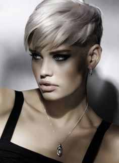 New Trendy Short Hairstyles 2013 halle first short cut look My Hairstyle, Undercut Hairstyles, Pixie Hairstyles, Short Hairstyles For Women, Pixie Haircut, Cool Hairstyles, Undercut Women, Super Short Hair, Girl Short Hair