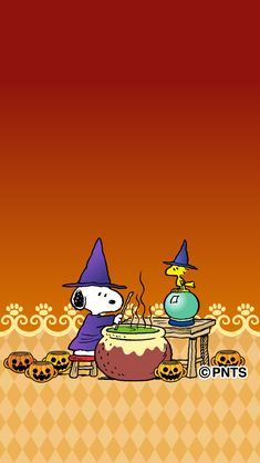 Snoopy and Woodstock Halloween - Halloween Wallpaper Charlie Brown Halloween, Peanuts Halloween, Charlie Brown And Snoopy, Halloween Art, Happy Halloween, Halloween Wallpaper Iphone, Fall Wallpaper, Snoopy Love, Snoopy And Woodstock