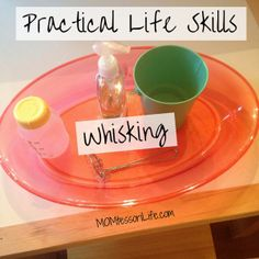 Montessori Activities for Toddlers - Practical Life Skills - Whisking