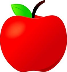 Red Apple Green and Yellow Border Clip Art | Clipart | Pinterest ...