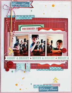 Leanne Allinson  love the layers and colors for christmas themed layout
