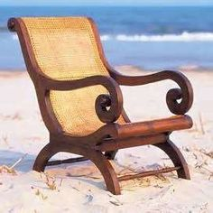 """A """"must"""" chair for the true British Colonial Interior Design: British West Indies-Style Colonial Chair, British Colonial Decor, Colonial Furniture, Home Furniture, Sunroom Furniture, West Indies Decor, West Indies Style, British West Indies, Rustic Furniture"""