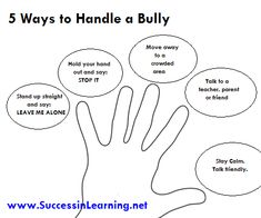 "CYBER BULLYING: This post gives 5 ways on how to handle a bully.Kids being bullied can lead to suicides, violence, and murder. Kids need to speak up, stand for themselves, say ""STOP It"", avoid the bully, talk to an adult, and stay calm."