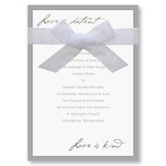Love is Patient Wedding Invitations