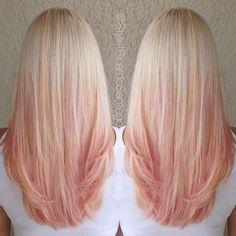 Strawberry Peach Hair hair ombre blond hair hairstyles ombre hair colored hair hair colors hair ideas hair trends 2 toned