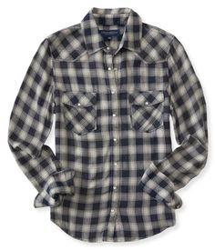 Long Sleeve Western Plaid Woven Shirt