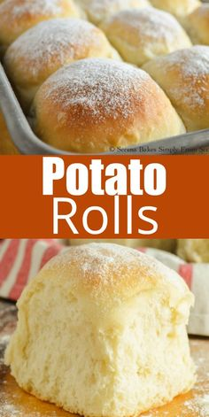 Potato Dinner Rolls Recipe Easy to make Potato Rolls recipe are soft, light, and fluffy! These are always a hit at the holidays and must for Thanksgiving from Serena Bakes Simply From Scratch. A favorite dinner roll recipe. Best Bread Recipe, Easy Bread Recipes, Cooking Recipes, Simple Bread Recipe, Easy Fluffy Bread Recipe, Best Rolls Recipe, Soft Food Recipes, Butter Bread Recipe, Easy Biscuit Recipe