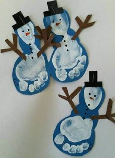 Christmas Crafts for infants Basteln Winter - christmascrafts Kids Crafts, Preschool Christmas Crafts, Daycare Crafts, Winter Crafts For Kids, Snowman Crafts, Baby Crafts, Holiday Crafts, Felt Crafts, Kids Diy
