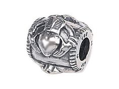 Zable(tm) Sterling Silver Claddaugh Bead / Charm