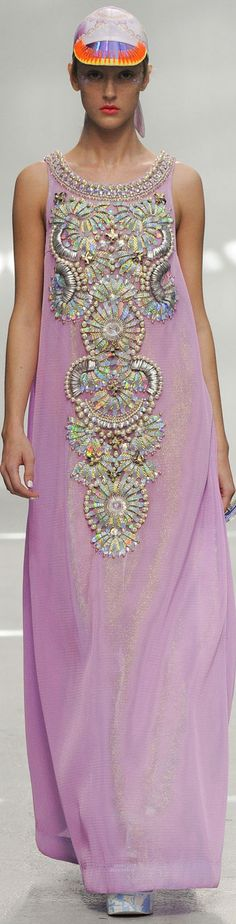 Manish Arora SS 2015♥❤♥PRETTY PASTELS & EXQUISITE BEADING/ EMBROIDERY DECORATION♥❤♥