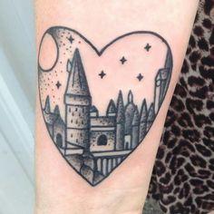 13 Best Hogwarts Castle Tattoo Ideas Images Castle Tattoo Harry