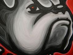 University of Georgia Bulldogs painting sports art by crockerart, $50.00