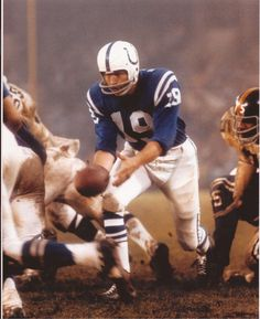 Johnny Unitas Baltimore Colts vs Steelers 8x10 Unsigned Photo