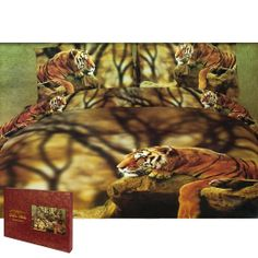 Animal World - Lonely Tiger Queen Size Bedding Set #Tiger
