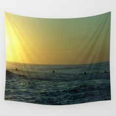 Waiting+for+a+Wave+Wall+Tapestry+by+Julia+Aufschnaiter+-+$39.00