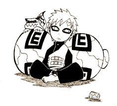 Gaara with shukaku Naruto Shippuden, Naruto Gaara, Boruto, Anime Naruto, Naruto Fan Art, Narusaku, Manga, All Anime, Akatsuki