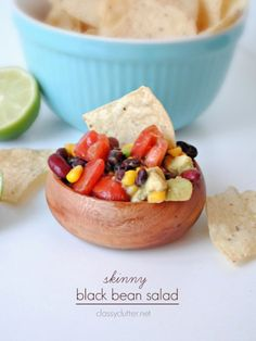 Skinny Black Bean Salad - Love how easy this is! #vegan #healthy