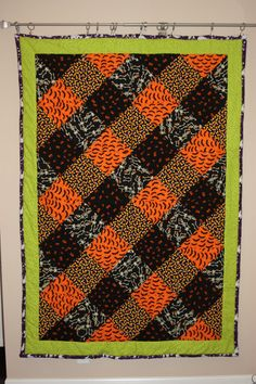 Scary Hand Made Halloween Quilt от ComfortingTreasures на Etsy