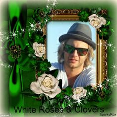 St. Patricks Day..White Roses & Clovers...