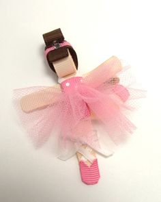 Ballerina Sculpture Ribbon Hair Clip