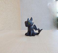 Toothless baby  Toothless Night Fury sculpture by ViaLatteaArt