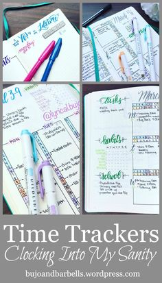 Tracking time in your bullet journal Bullet Journal Cover Ideas, Bullet Journal Font, Bullet Journal Printables, Bullet Journal Junkies, Bullet Journal Inspiration, Journal Ideas, Planners, Morning Pages, Getting Things Done