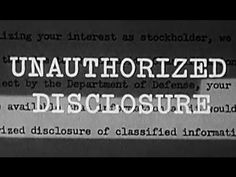 "Spying, Espionage Prevention: ""Unauthorized Disclosure"" 1965 Department of Defense: http://youtu.be/vUJhDYml1ns #spy #espionage #ColdWar"
