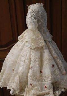 Antique/Vintage French fashion muslin dress for doll in Dolls & Bears, Dolls, Clothes & Accessories, Antique & Vintage | eBay