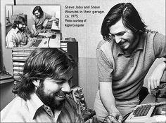 Steve Wozniak and Steve Jobs #apple #stevejobs