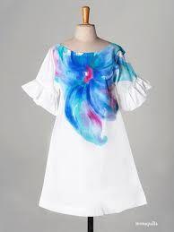 vestido ropa pintada a mano - Buscar con Google