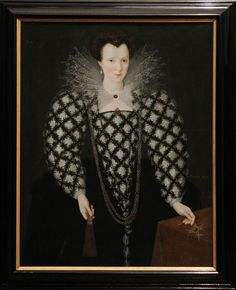 Marcus Gheeraerts II, 'Portrait of Mary Rogers, Lady Harington' probably a portrait of the wife of Sir John Harington, courtier and inventor of the toilet.