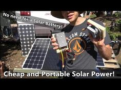 Solar Power w/o a Battery! Cheap and Ultra Portable System that Anyone can Build! Thin Film Solar Panels, Solar Power Panels, Solar Energy System, Portable Solar Power, Solar Panel Installation, Solar Battery, Panel Systems, Diy Solar, Youtube
